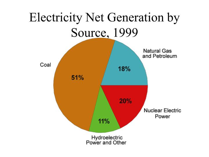 Electricity Net Generation by Source, 1999