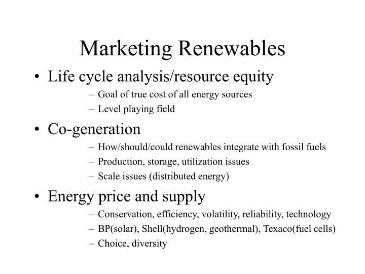 Marketing Renewables