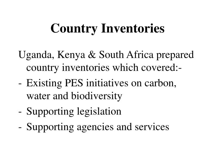 Country Inventories