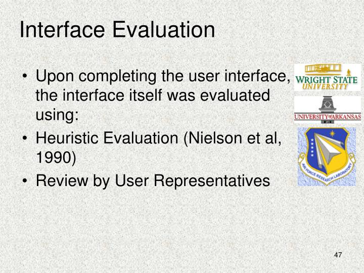 Interface Evaluation