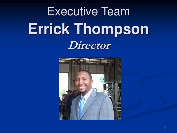 Errick thompson director