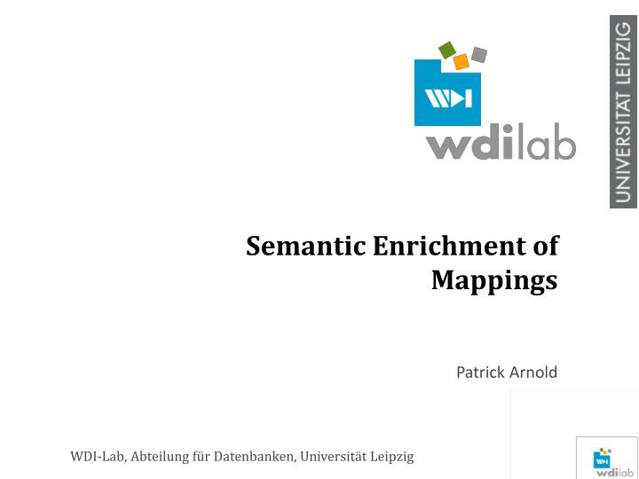 semantic enrichment of mappings n.