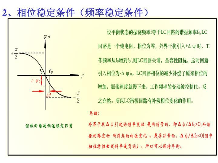2、相位稳定条件(频率稳定条件)