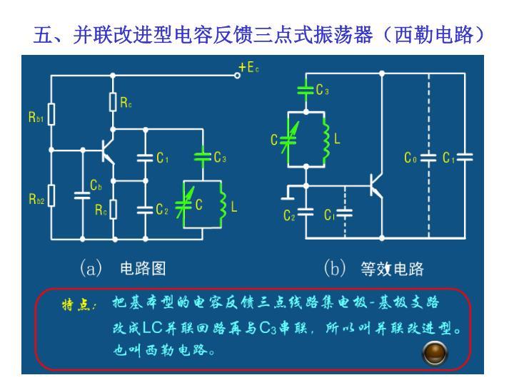 五、并联改进型电容反馈三点式振荡器(西勒电路)