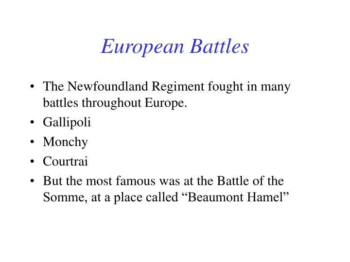 European Battles