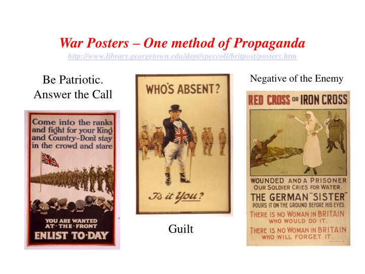 War Posters – One method of Propaganda