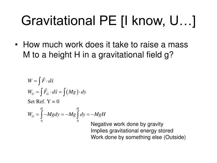 Gravitational pe i know u