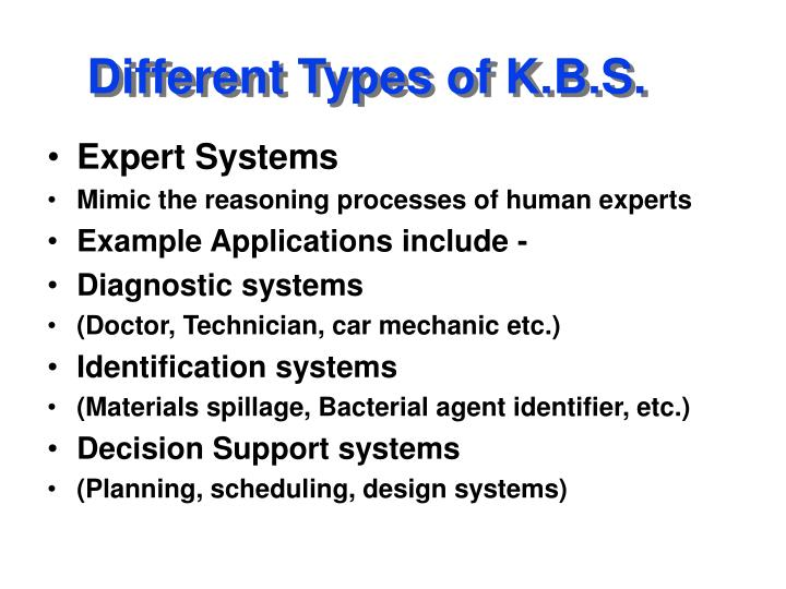 Different types of k b s