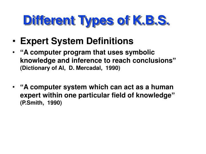 Different types of k b s1