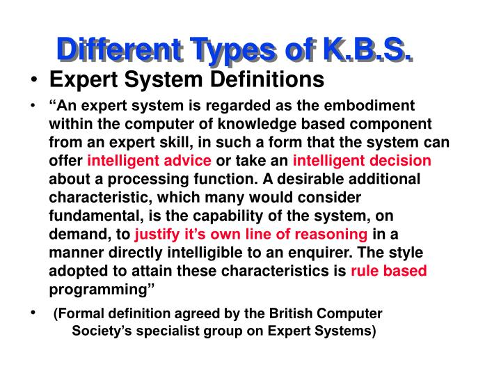 Different types of k b s2