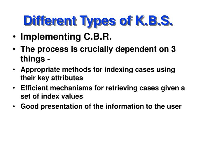 Different Types of K.B.S.