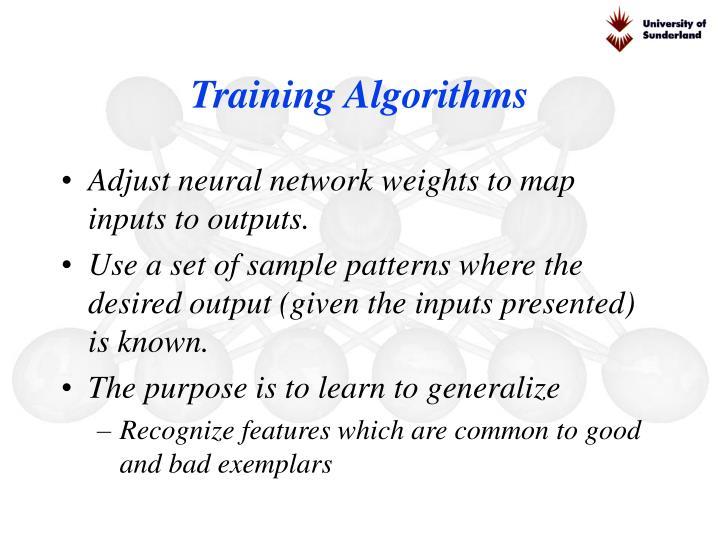 Training Algorithms