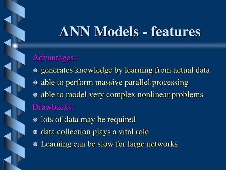 ANN Models - features