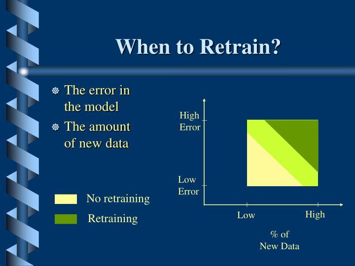 When to Retrain?