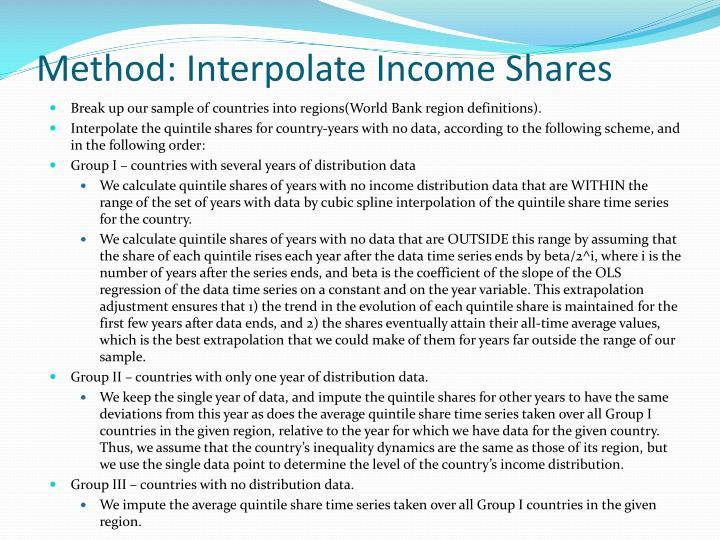 Method: Interpolate Income Shares