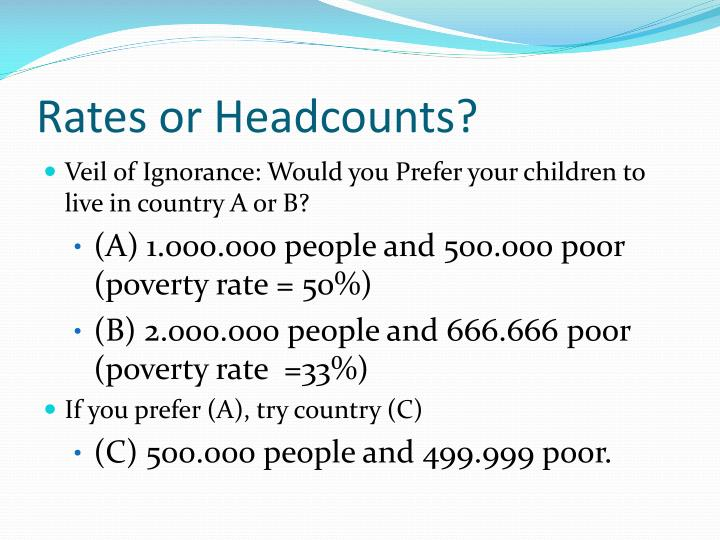 Rates or Headcounts?