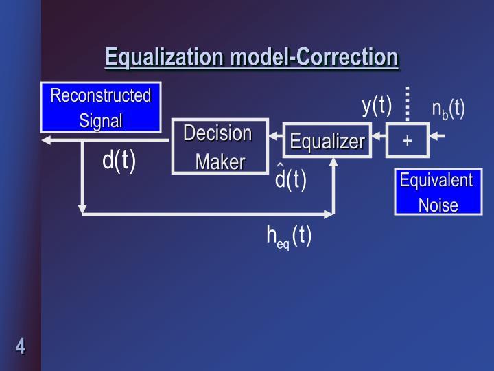 Equalization model-Correction