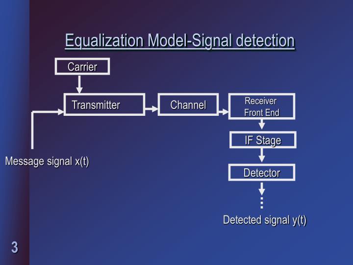 Equalization model signal detection