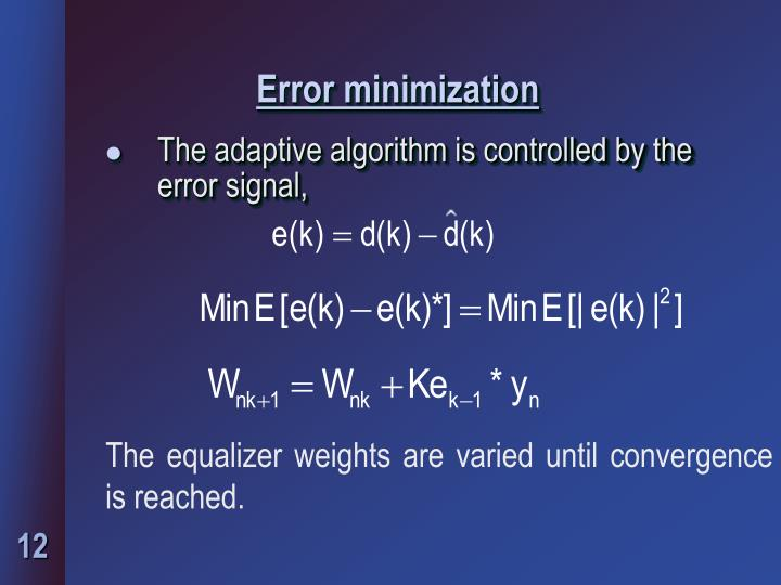 Error minimization