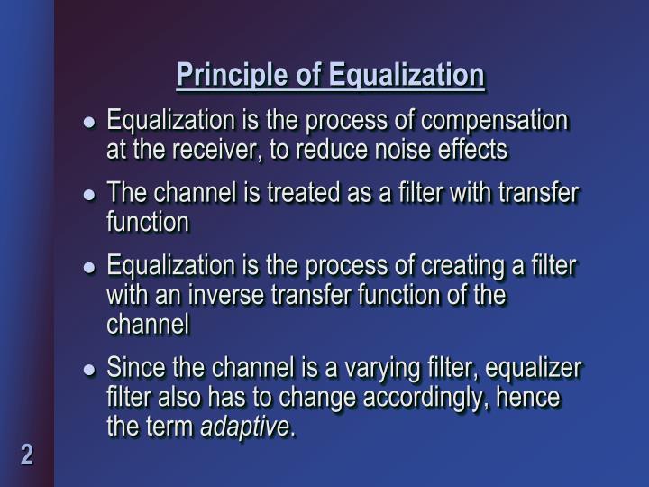 Principle of equalization