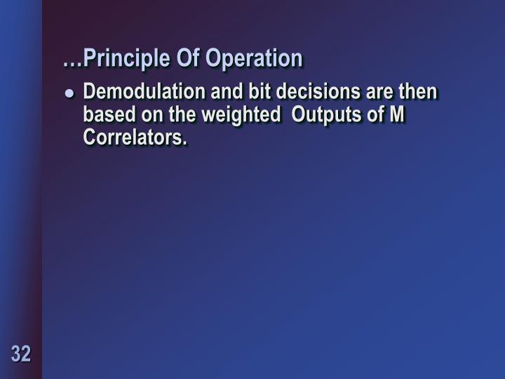 …Principle Of Operation