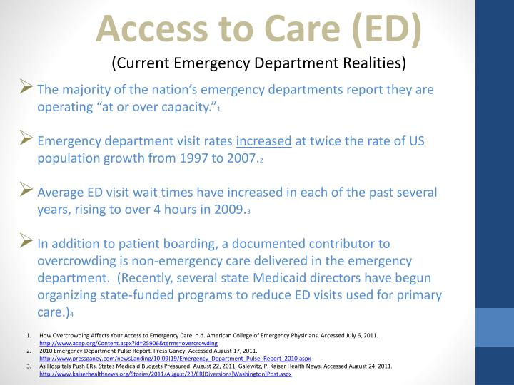 Access to Care (ED)