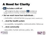 a need for clarity3