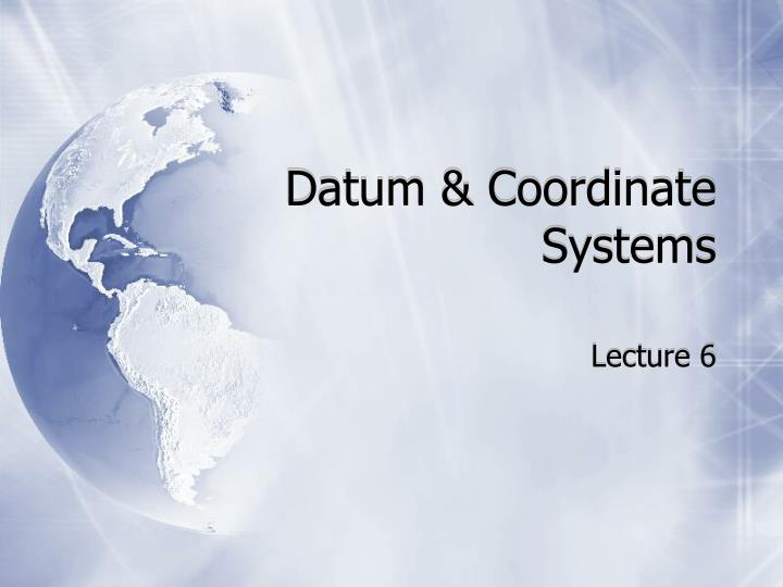 Datum coordinate systems