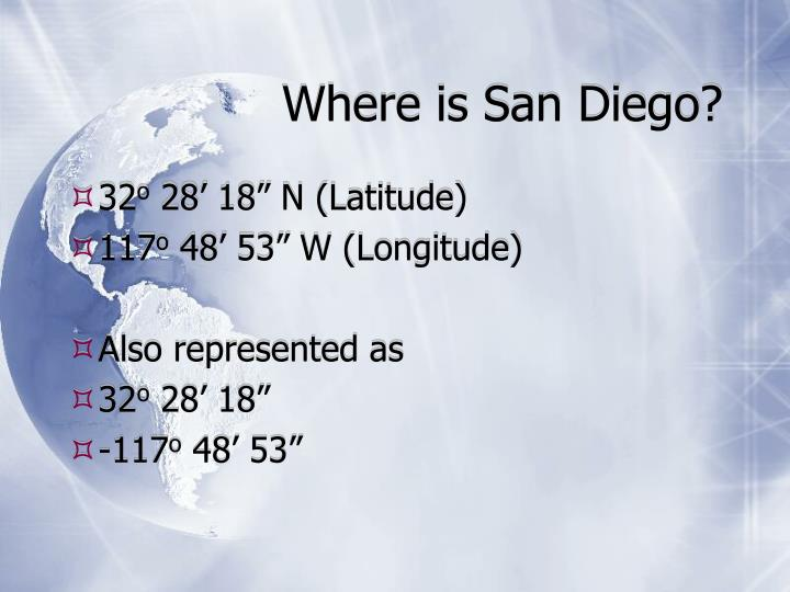 Where is San Diego?