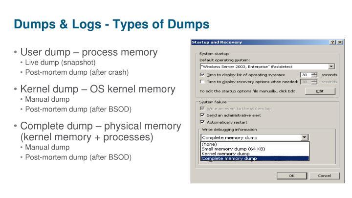 User dump – process memory