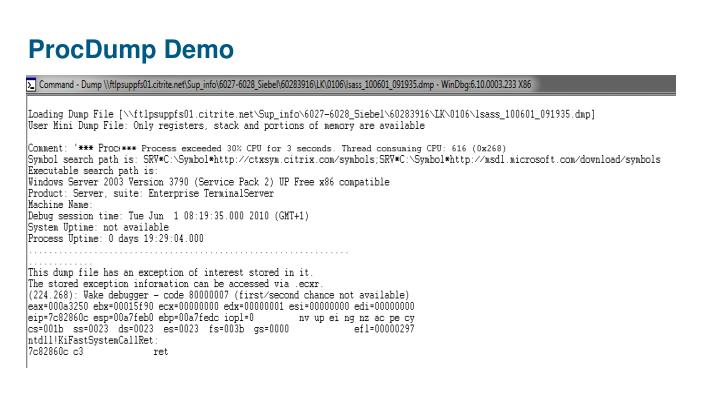ProcDump Demo