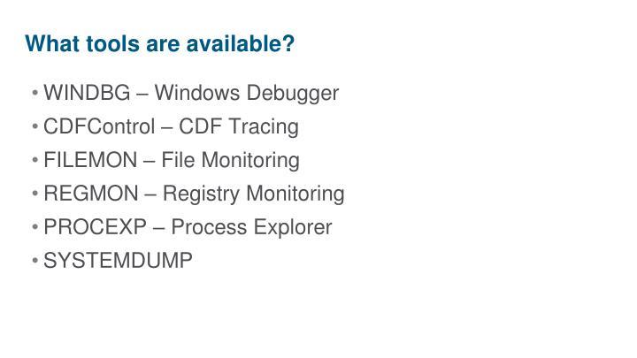 WINDBG – Windows Debugger