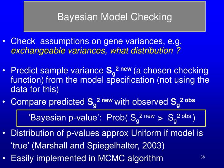 Bayesian Model Checking