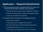 application required attachments