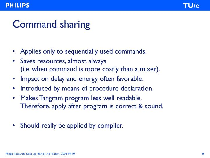Command sharing