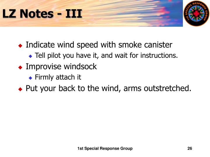 LZ Notes - III