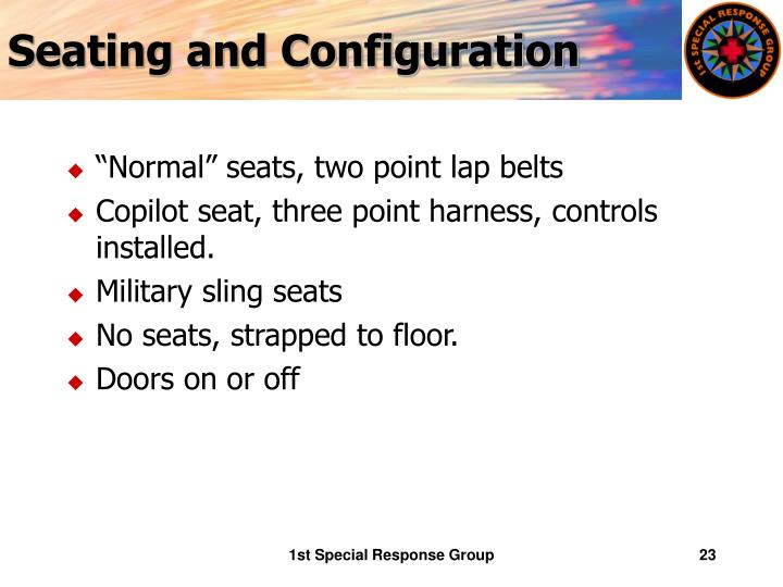 Seating and Configuration