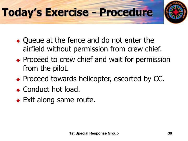 Today's Exercise - Procedure