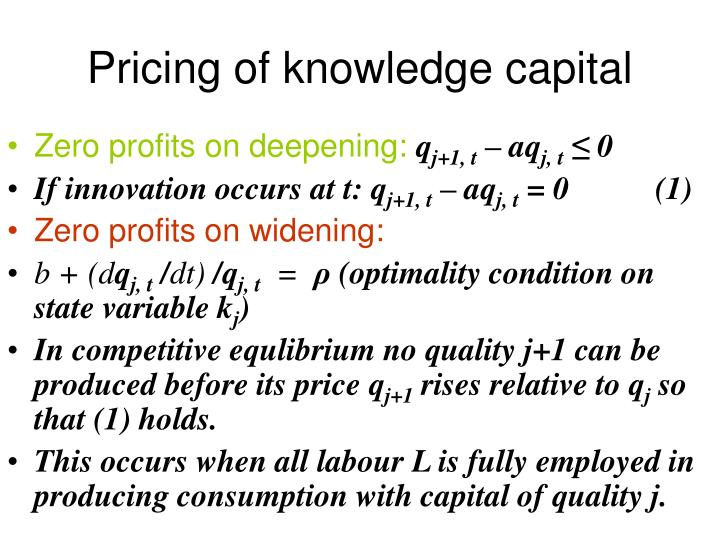 Pricing of knowledge capital