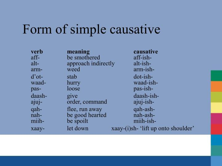 Form of simple causative