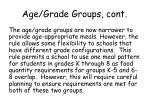 age grade groups cont