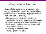 congressional action