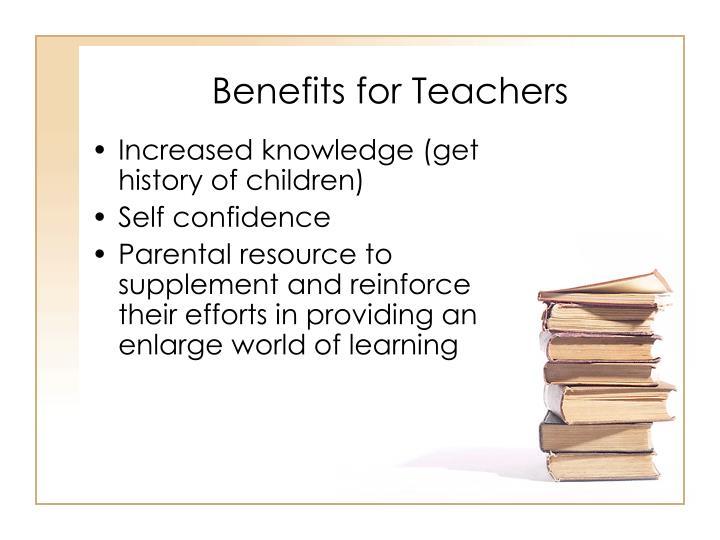 Benefits for Teachers
