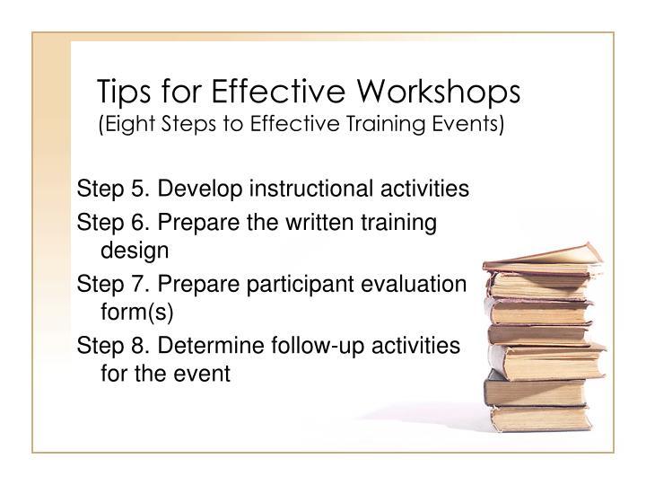 Tips for Effective Workshops