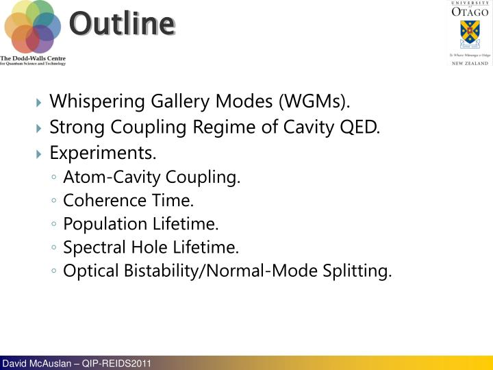 Whispering Gallery Modes (WGMs).