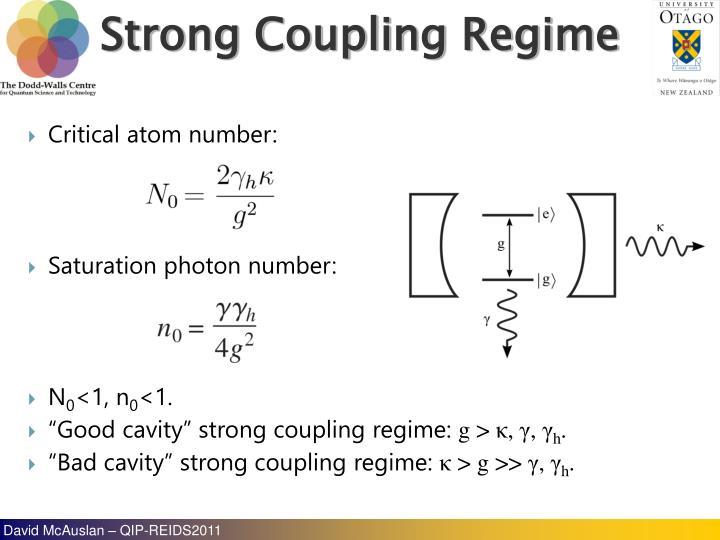 Critical atom number: