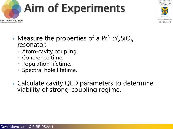 Measure the properties of a Pr