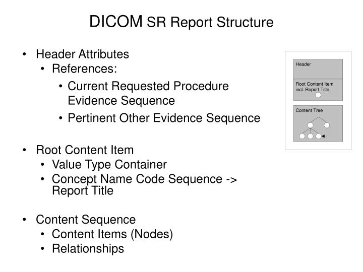 Dicom sr report structure