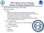 nws climate services program partners exchange program pep