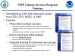 nws climate services program training